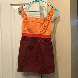 Woman's color block tank top